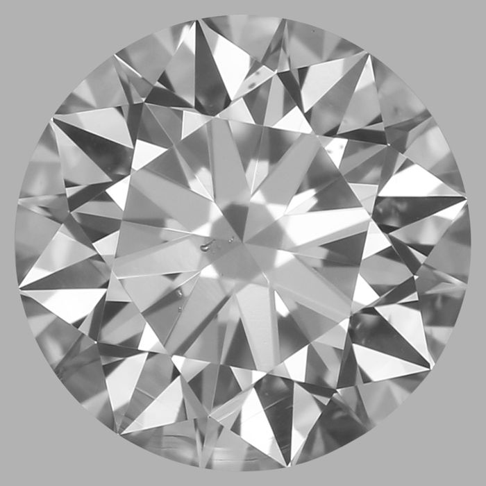 Round Brilliant 0.50ct  DSI1 GIA- original image -10x