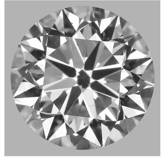 Round Brilliant 0.50ct  DVS2 GIA- original image -10x