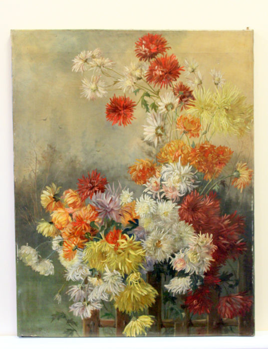 Rosa Bruhl (19/20th Century) - Flower Scene - 1896