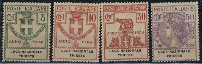 Europe 1924/1924 - Kingdom Italy, Parastatali, National League Trieste - Sassone 42/48
