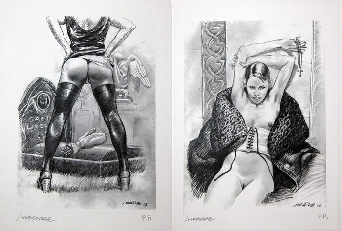 Liberatore - 2x prints B 6-8 - Loose page - First edition - (2006)