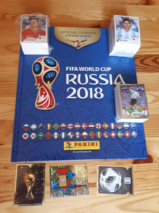 Panini - World Cup Russia 2018 - Complete set 670 images + empty Hard Cover album  Belgium version