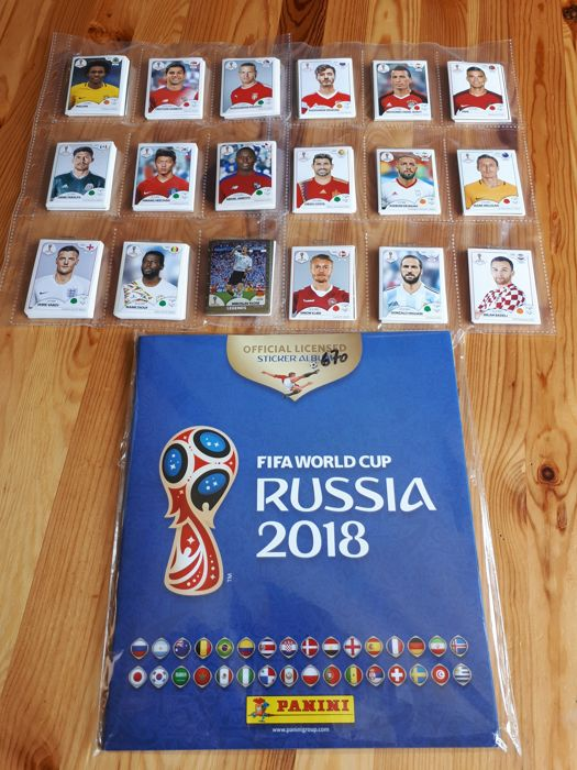 Panini - World Cup Russia 2018 - Complete set 670 images + Empty Soft Cover album  Belgium version