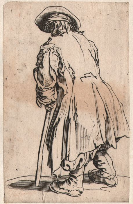 Jacques Callot ( 1592-1632 ) - Le Vieux Mediant - Original in first state