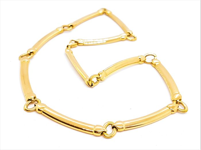 Necklace - 18 kt yellow gold - Hinged lugs - length 42 cm