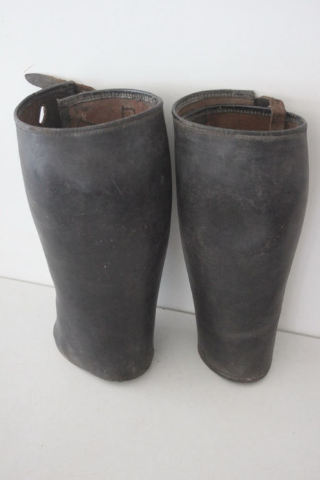 Stamped Leather Gaiters of the German Wehrmacht - WW II