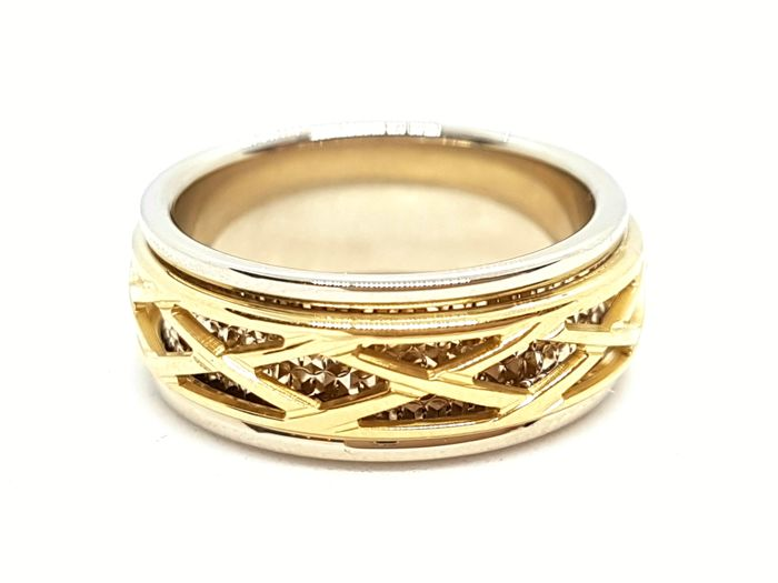 18 kt. Bicolour, Gold, White gold, Yellow gold - Ring