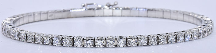 4.59 ct Innovative static and flexible tennis bracelet