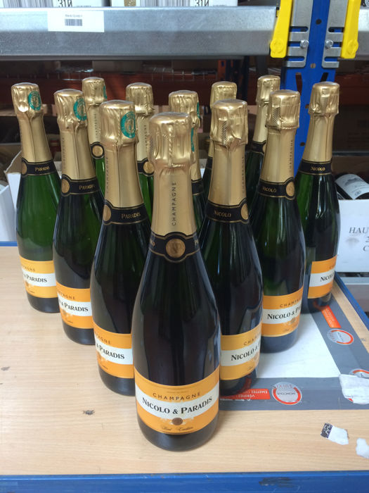 Nicolo & Paradis Brut Tradition Champagne - 12 bottles