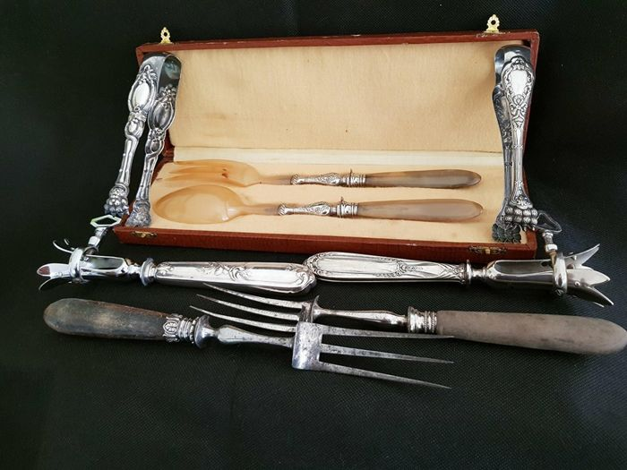 Assorted serving utensils for the table, late 19th /early 20th century