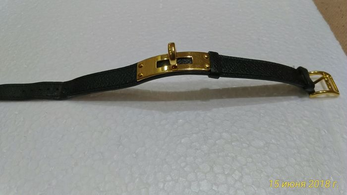 Hermès leather bracelet