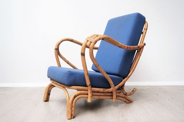 Manufacturer Unknown   Vintage Bamboo Lounge Chair