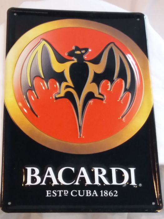 Advertising sign Bacardi, 1970s