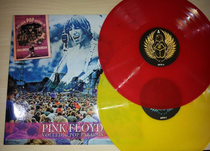 2 Lp Pink Floyd - Volledig Pop Paradijs - Red & Yellow - 300 Only