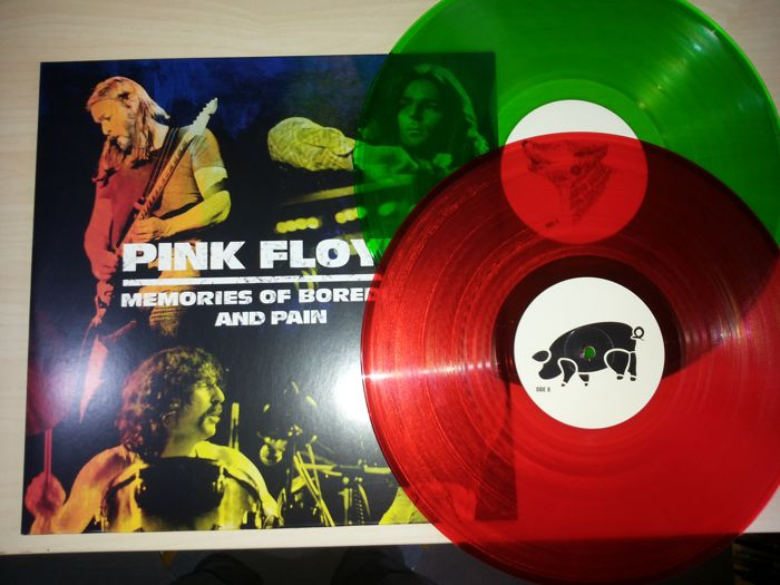 2 Lp Pink Floyd - Memories Of Boredom And Pain - Red & Green - 25/65 Copy