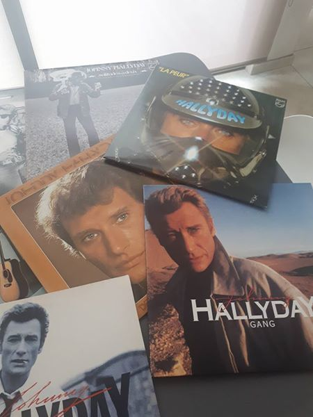 Lot de 12 vinyles (33T) Johnny Hallyday