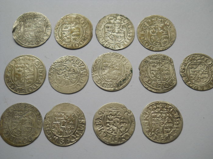 Poland - 13 x Groshen  17th century  - Silver