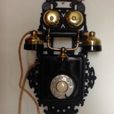 A cast iron-hand moulded wall telephone-Denmark - period 1920-1930