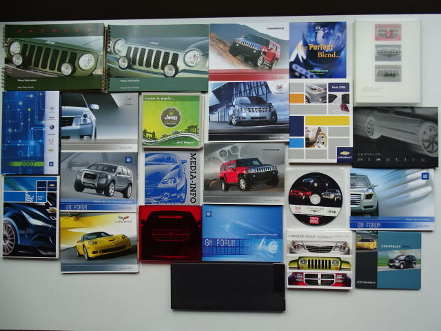 Press Information kits with CD-Rom - AMERICAN brands - 2003-2006 (22 objets)