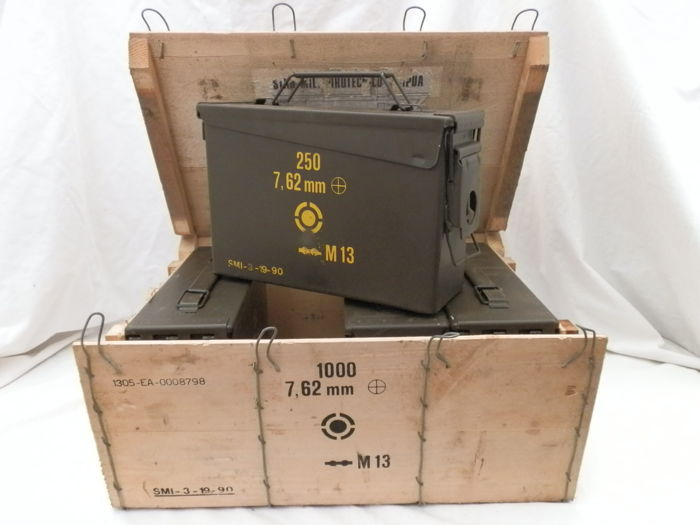 kit of 4 military ammunition boxes with original wooden box catawiki
