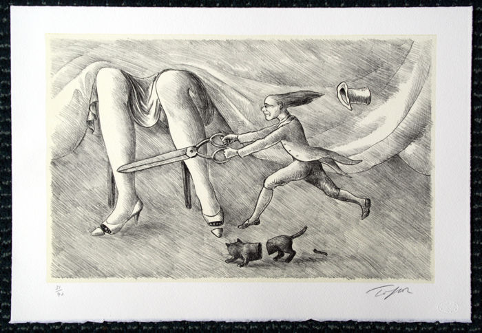Roland Topor - Jeux de Table - Six lithographies