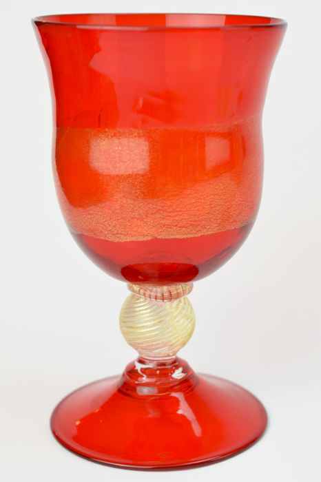 Zecchin - Collectable goblet with gold leaf