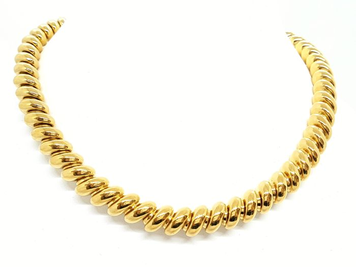 Marco Bicego - Necklace - Twisted links - 18 kt yellow gold - Length 45 cm