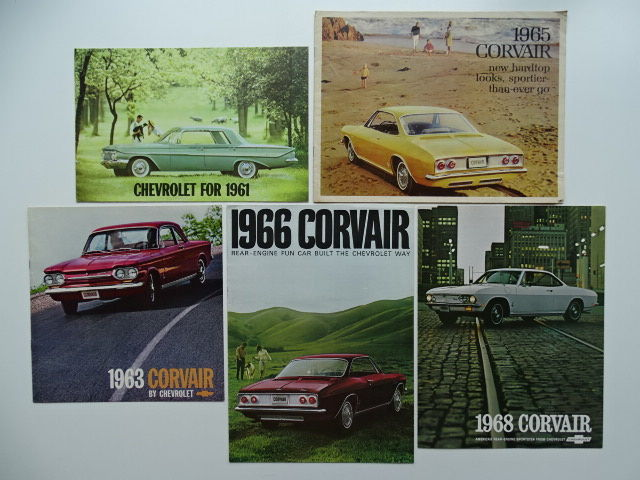 Brochures / Catalogues - CHEVROLET Corvair Monza / Corsa / 500 - 1961-1968 (5 objets)