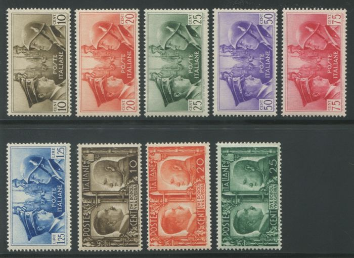 Italy Kingdom 1941 - Kingdom Italian-German brotherhood + series not issued - Sassone NN. 452/457 e 457A/C