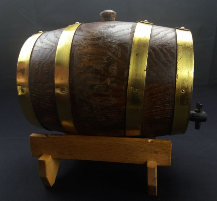 Grappa collection barrel made of oak wood - 100 cl - Italy - c. 1960