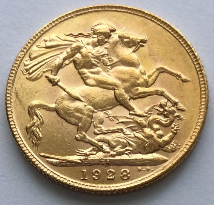 South Africa - Sovereign 1928-SA George V - Gold
