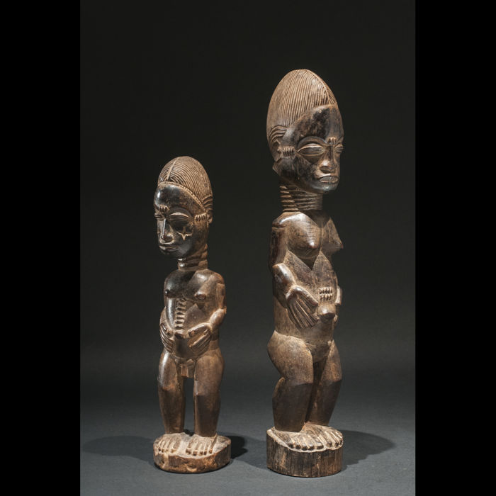 """Blolo bla"" and ""Blolo bian"" sculptures - BAULE - Ivory Coast"