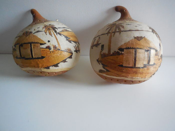 African decoration gourd from Congo