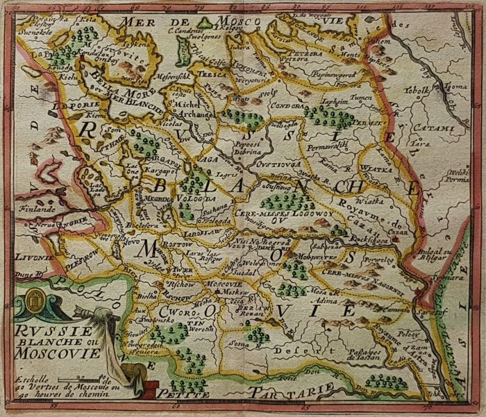 Rusland, West-Rusland, Moskovië; Jacques Peeters - Russie, blanche ou Moscovie - 1692