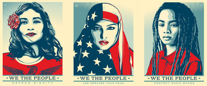 Shepard Fairey (OBEY) - We The People Print Set + Bonus