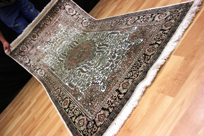 Qom Kashmir silk carpet - India - 177 x 95 cm