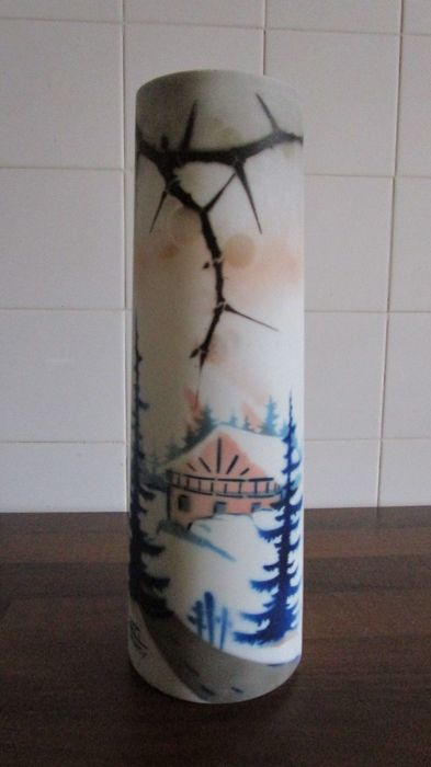 Manufacture Delatte Nancy, vase signed LOTI NANCY