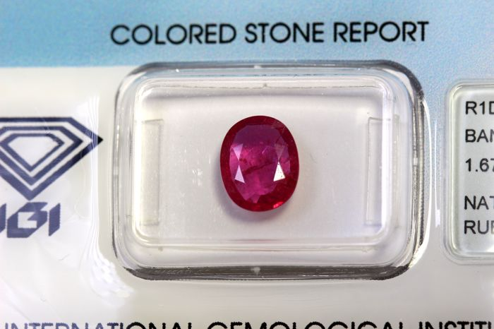 Ruby - 1.67 ct - Intense Red