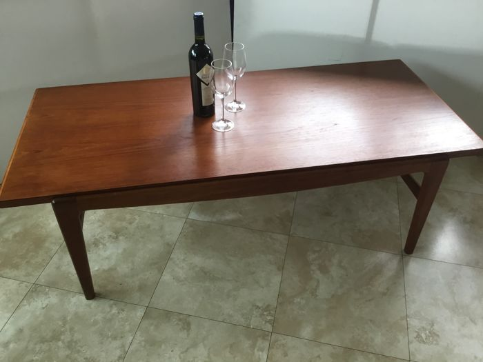 Unknown Designer Mid Century Modern Coffee Table Reversible Top