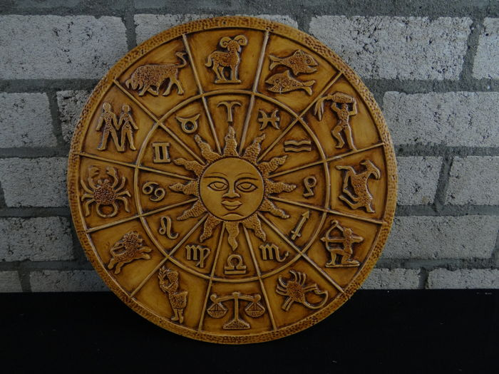 Wall plate with Zodiac symbols