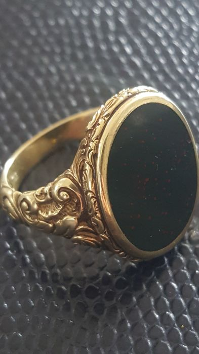 Antique mens' gold ring 12.7 grams - turn of the century
