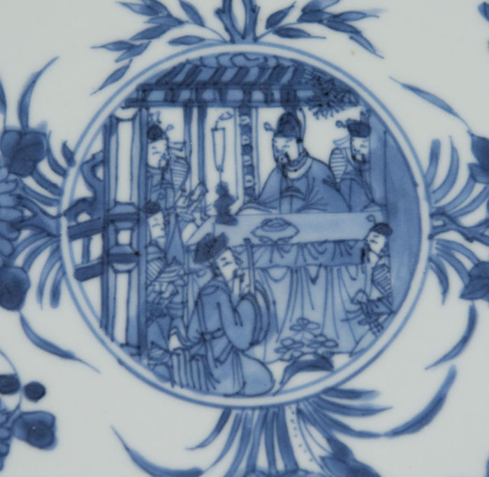 Plate decorated with figures - China - Kangxi