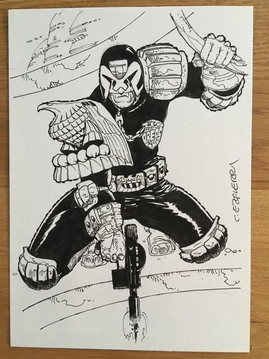 Judge Dredd - Ezquerra - Judge Dredd - Original Drawing - Página suelta - Primera edición