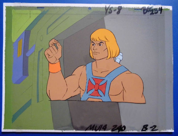 Filmation/Mattel - Animation Cel + painted background - He-Man - Other - (1983/1984)