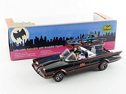 Batman '66 Classic Tv-series - NJCroce - Batmobile with bendable figures - Scale 1/24