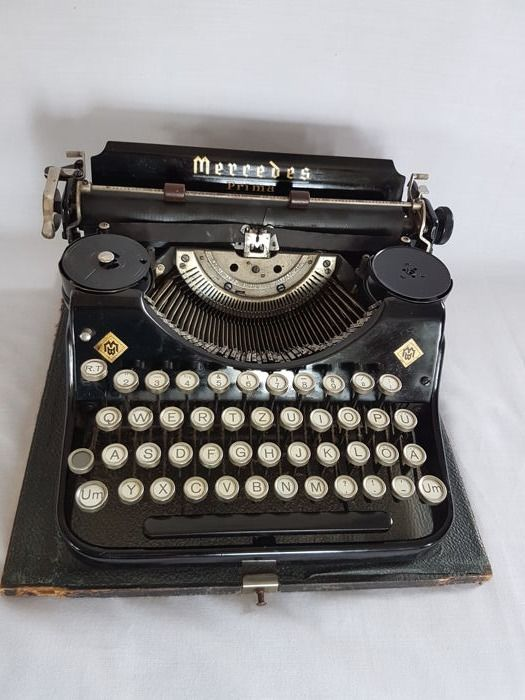 Typewriter Mercedes Zella-Mehlis model Prima in originele koffer - Thuringen Germany - 1930/1940