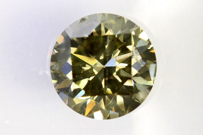 IGI Antwerp Sealed Diamond -  1.50 ct - Fancy Greenish Grey - Yellow  - SI2