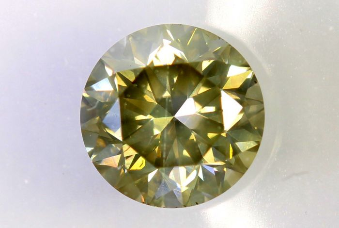 IGI Antwerp Sealed Diamond -  0.60 ct -  Grey - Yellow