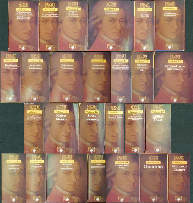 mozart - Various - Multiple titles - CD Box set - 2000/2000