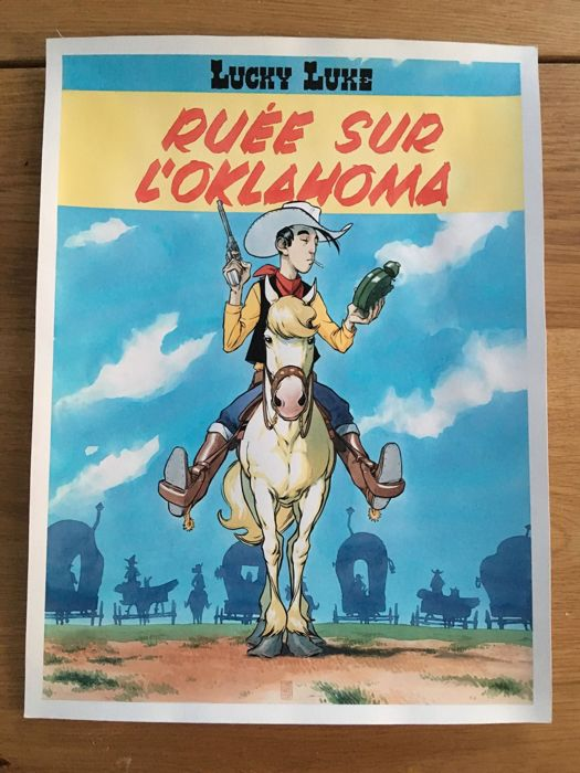 Lucky Luke - Original Drawing - Lucky Luke Cover (Recreation art) - Dimension A3